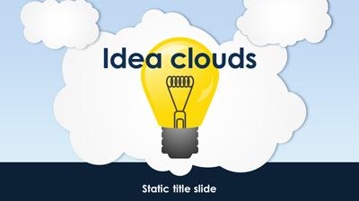 ID# 15261 - Idea Clouds - PowerPoint Template