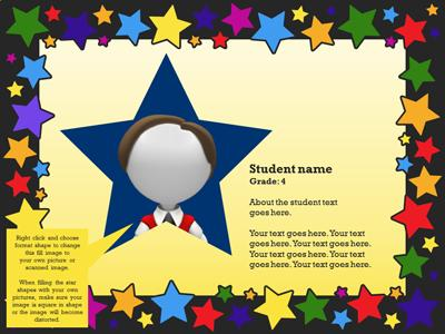 Shining Star Bulletin Board A Powerpoint Template From
