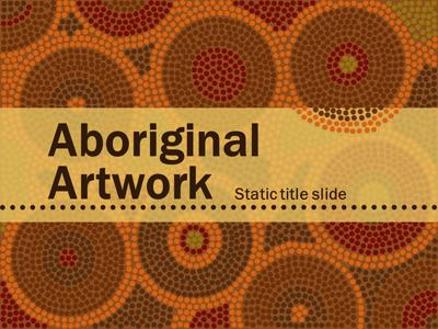 ID# 15362 - Aboriginal Artwork - PowerPoint Template
