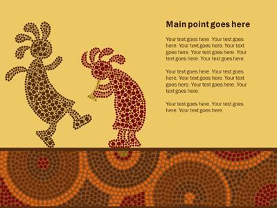 Aboriginal artwork a powerpoint template from presentermedia powerpoint template loading preview close toneelgroepblik Images