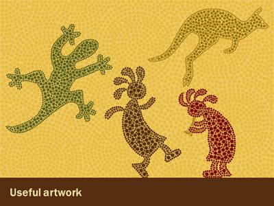 Aboriginal artwork a powerpoint template from presentermedia powerpoint template loading preview close toneelgroepblik Image collections
