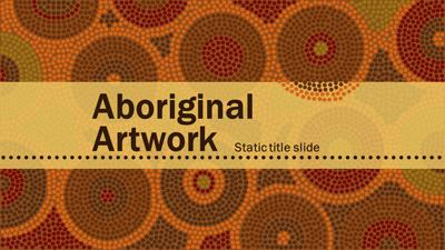 ID# 15364 - Aboriginal Artwork - PowerPoint Template