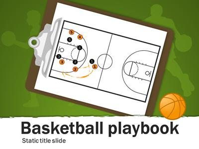 ID# 15653 - Basketball Playbook - PowerPoint Template