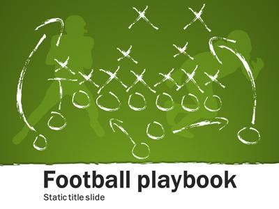 Football Playbook A Powerpoint Template From Presentermedia