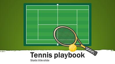 ID# 15663 - Tennis Playbook - PowerPoint Template