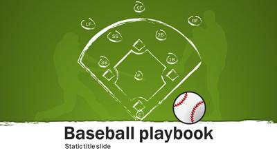ID# 15688 - Baseball Playbook - PowerPoint Template