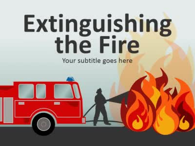 Fire Truck Flash A Powerpoint Template From Presentermedia