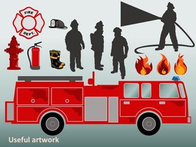 extinguishing the fire a powerpoint template from presentermedia com