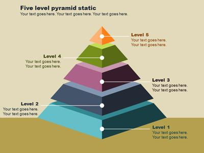 Pyramid diagrams a powerpoint template from presentermedia ccuart Images