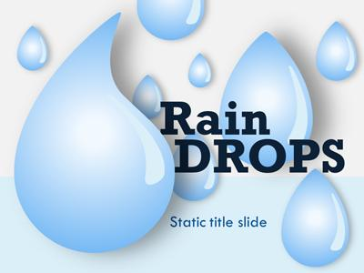 rain drops a powerpoint template from presentermedia com