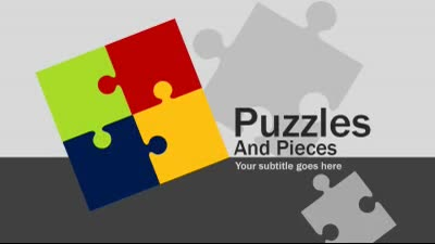 ID# 16086 - Puzzles And Pieces - PowerPoint Template