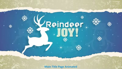 ID# 16088 - Reindeer Joy - PowerPoint Template
