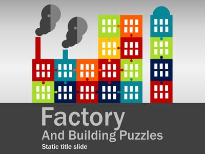 Factory Puzzles - A PowerPoint Template from PresenterMedia.com