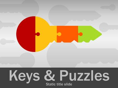 Keys and puzzles a powerpoint template from presentermedia toneelgroepblik Image collections