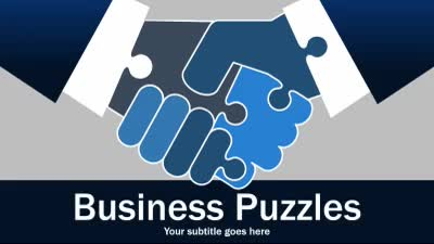 ID# 16226 - Business Puzzles - PowerPoint Template