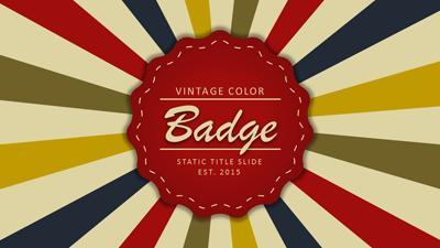 Vintage color badge a powerpoint template from presentermedia toneelgroepblik Choice Image