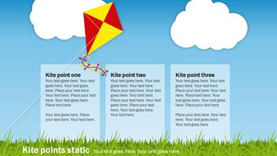 Fly A Kite - A PowerPoint Template from PresenterMedia com