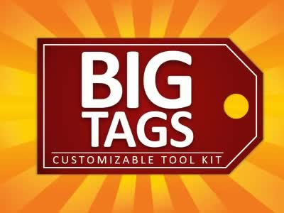 ID# 16453 - Big Tags Tool Kit - PowerPoint Template