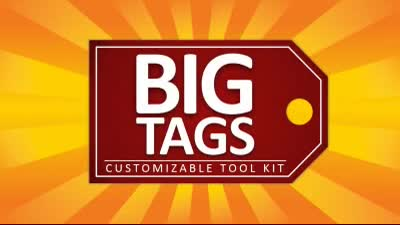 ID# 16454 - Big Tags Tool Kit - PowerPoint Template