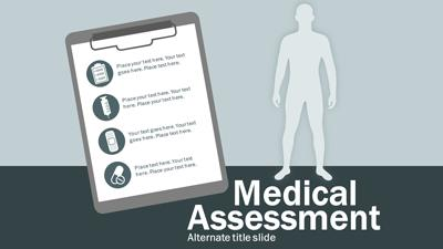 medical assessment a powerpoint template from presentermedia com