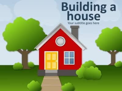 ID# 16543 - Building A House - PowerPoint Template