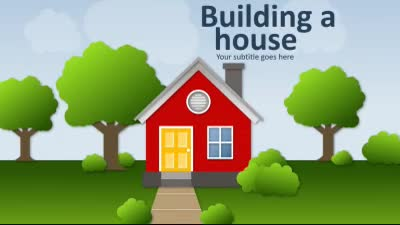 ID# 16544 - Building A House - PowerPoint Template