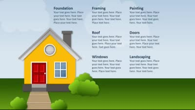 Building A House A Powerpoint Template From Presentermedia Com
