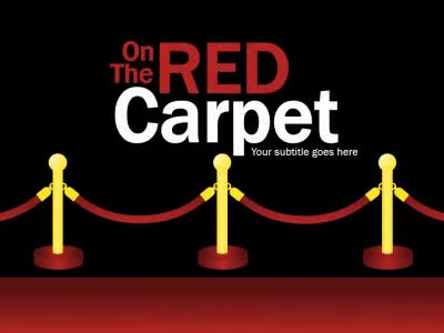 ID# 16565 - On The Red Carpet - PowerPoint Template