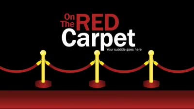ID# 16566 - On The Red Carpet - PowerPoint Template