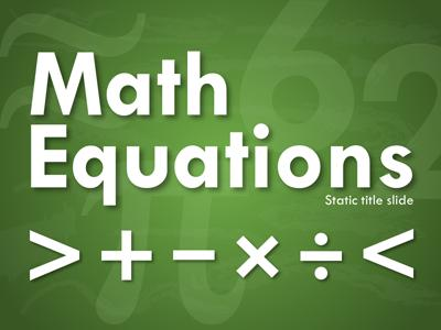 Math equations a powerpoint template from presentermedia toneelgroepblik Image collections