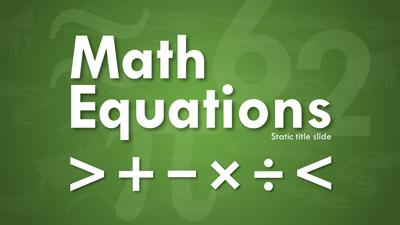 math equations a powerpoint template from presentermedia com