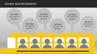 School bus infographics a powerpoint template from presentermedia toneelgroepblik Images