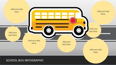 School bus infographics a powerpoint template from presentermedia powerpoint template loading preview close toneelgroepblik Images