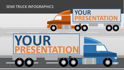 ID# 17270 - Semi Truck Infographics - PowerPoint Template