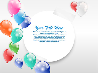 Party time balloons a powerpoint template from presentermedia toneelgroepblik Images
