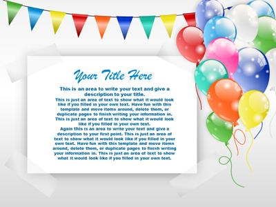 party time balloons a powerpoint template from presentermedia com