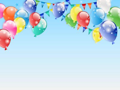 Party Time Balloons A PowerPoint Template From