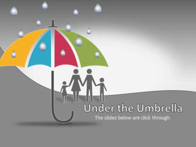 ID# 17472 - Umbrella Puzzle Protection - PowerPoint Template