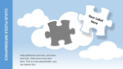 ID# 17628 - Cloud Puzzles - PowerPoint Template