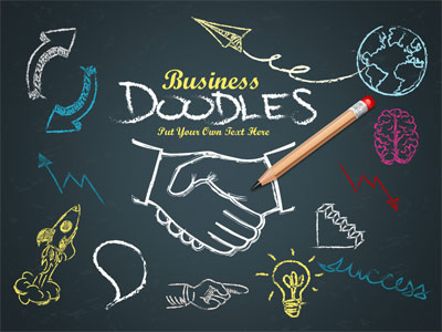 Business Doodles Timeline A Powerpoint Template From