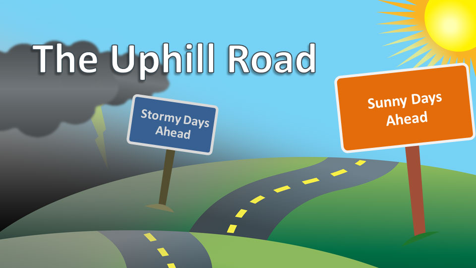 The uphill road a powerpoint template from presentermedia toneelgroepblik Choice Image