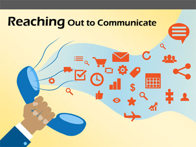 ID# 17865 - Reaching Out To Communicate - PowerPoint Template
