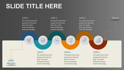 process infographics a powerpoint template from presentermedia com