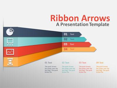 Ribbon Arrows Compare - - Slide for PowerPoint - PresenterMedia.com