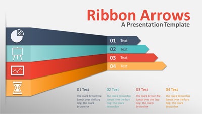 ID# 18323 - Ribbon Arrows Infographic Slides - PowerPoint Template