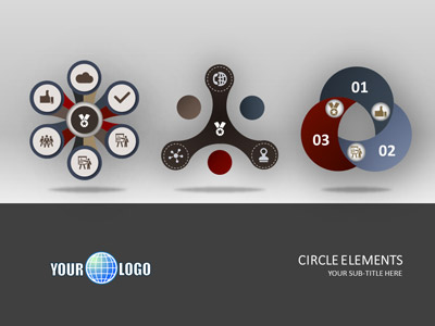 ID# 18513 - Circle Elements - PowerPoint Template