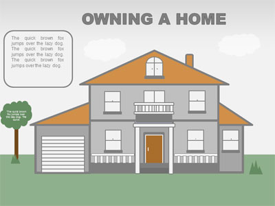ID# 18659 - Renting / Owning Infographics - PowerPoint Template