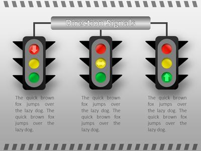 Traffic Signals - A PowerPoint Template from PresenterMedia.com
