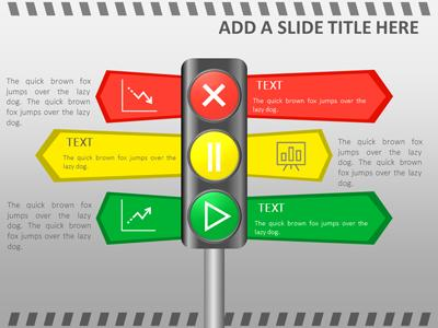traffic signals a powerpoint template from presentermedia com