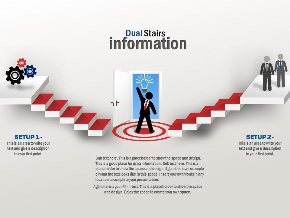 Stairs Information Goal A Powerpoint Template From Presentermedia